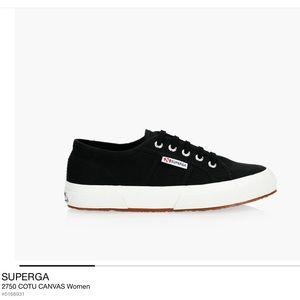 Superga Cotu Canvas Black Sneakers Size 36